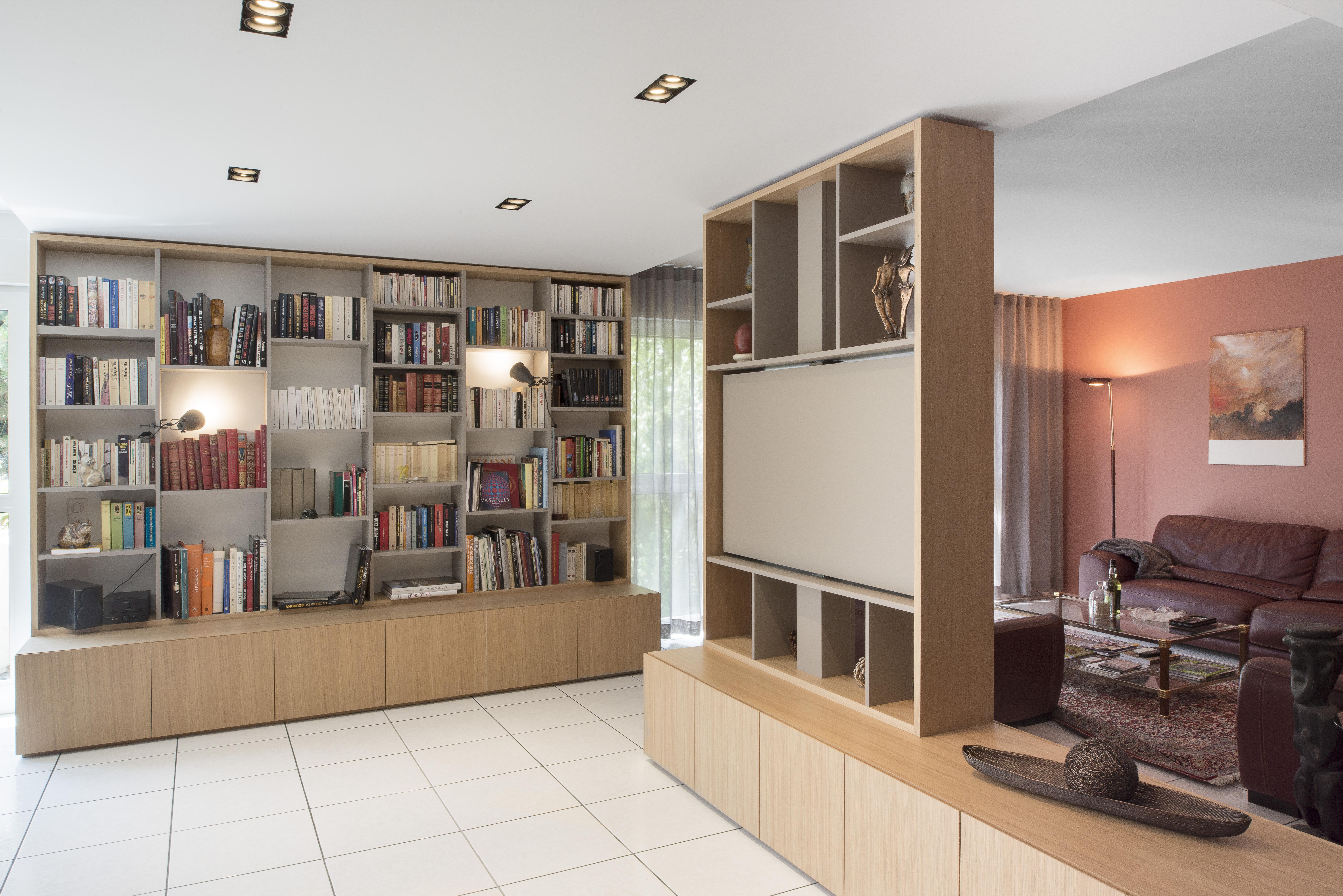 Gd Sagem Projet B Nisterie # Meuble Salon Bibliotheque